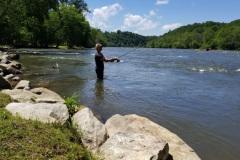 Fishing on the Shores of Rosebay Park- Olivette