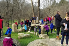 Kids Playing at Stonehenge- Olivette